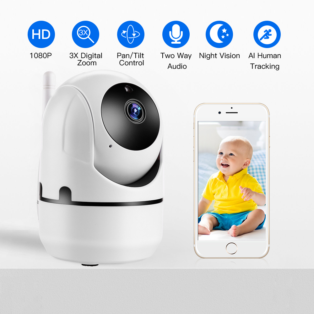 Home Security IP Camera Wireless Smart WiFi Camera WI-FI Audio Record Surveillance Baby Monitor HD Mini CCTV Camera YCC365 Cam