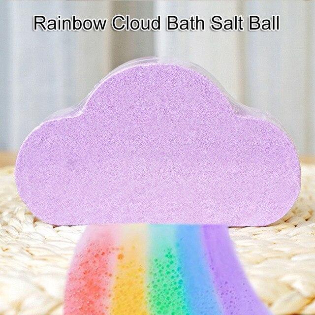 2019 Natural Skin Care Bath Salt Rainbow Soap Ball Skin Care Exfoliating Moisturizing Handmade Bath Bomb Bubble Massage SPA