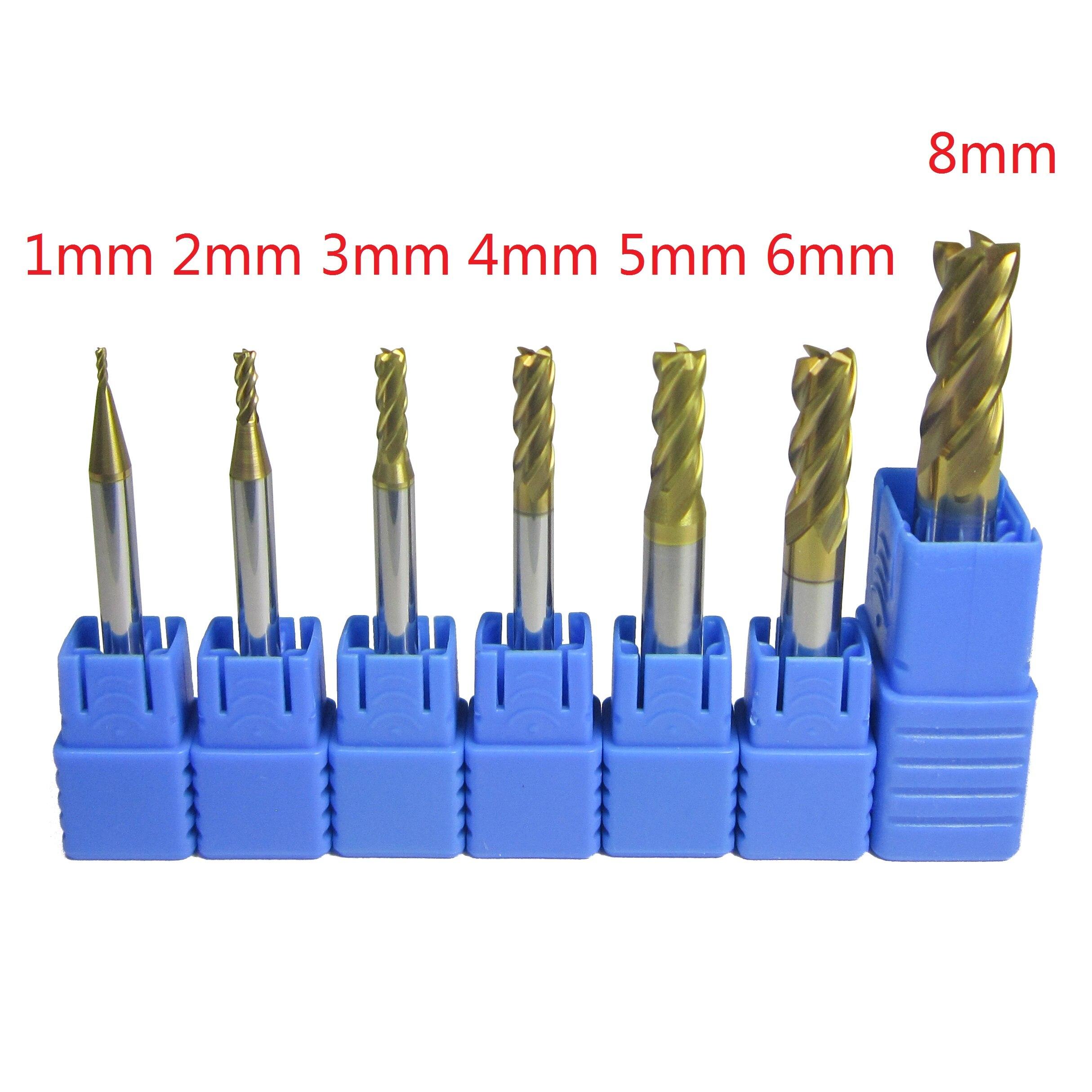 5pcs diameter 6mm HRC58 2 flute Tungsten Carbide End Mill milling cutter CNC