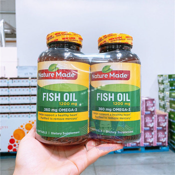 Бесплатная доставка 2 бутылки рыбий жир 1200 мг 200 шт 360 мг Омега-3