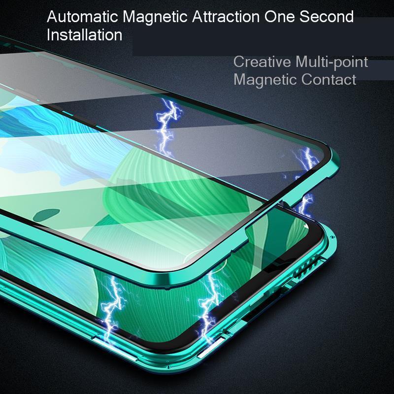 20 Metal Magnetic Case For Huawei Nova 5 Pro Mate 20 Double Sided 9H Tempered Glass Case On Nova 5 5i Honor 20 P30 Lite full Cover (2)