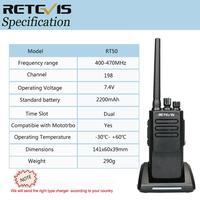 ווקי טוקי 2pcs צריכת חשמל גבוהה DMR רדיו דיגיטלי IP67 Waterproof מכשיר הקשר Retevis RT50 תצוגה UHF VOX Portable 2 Way רדיו ווקי טוקי (5)