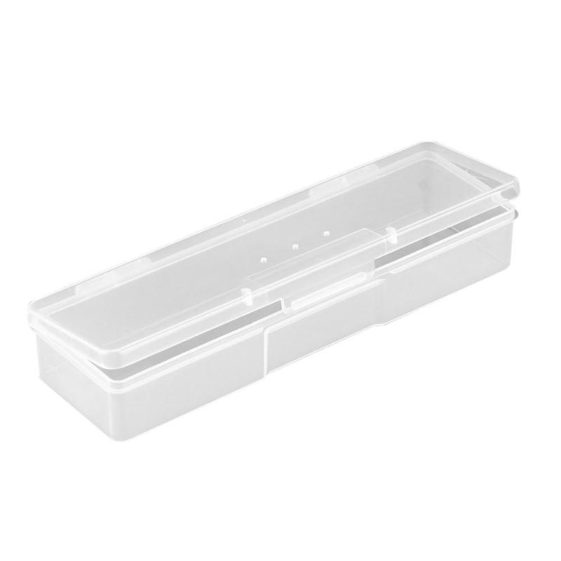 Plastic Translucent Nail Art Storage Box Manicure Tools Nail Dotting Drawing Pens Holder Container Manicure Organizer Case Box