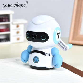 1Pcs Robot Style Hand-cranked Mechanical Accessories Pencil Sharpener Metal Pencil Sharpener Office School Suppliess Tationery japan tombow 1pcs 0 5mm dpa 162 metal grip mechanical pencil art painting mechanical pencil