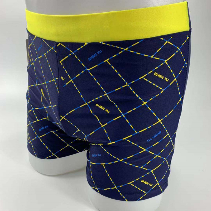 Swimming Trunks Men's Shen Yu Speedos New Mixed Colors Printed Boxer MEN'S Swimsuit Quick-Dry Hot Springs Beach Shorts
