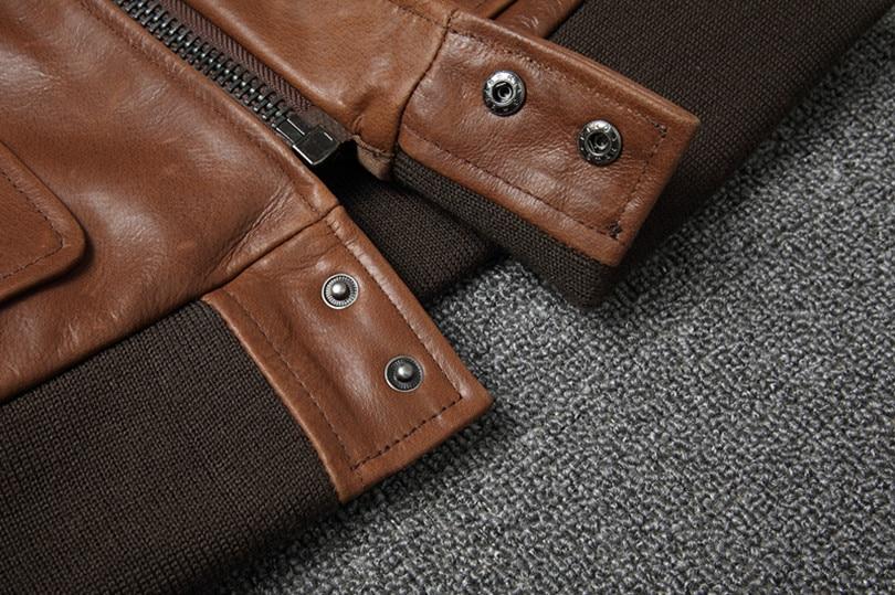 Hbbe9f68ba4124d0c84e383c8ea60927d4 Free shipping.Warm Mens classic genuine leather Jacket,quality men's vintage flight jackets.Eur Plus size Casual A2 coat.sales