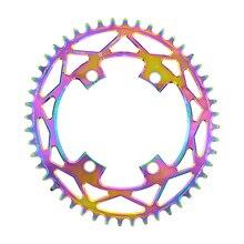 PASS QUEST X110 / 4 BCD 110BCD Titanium-plated Oval 42T-52T Road Bike Narrow Wide Chainring R2000 R3000 4700 5800 6800 DA9000