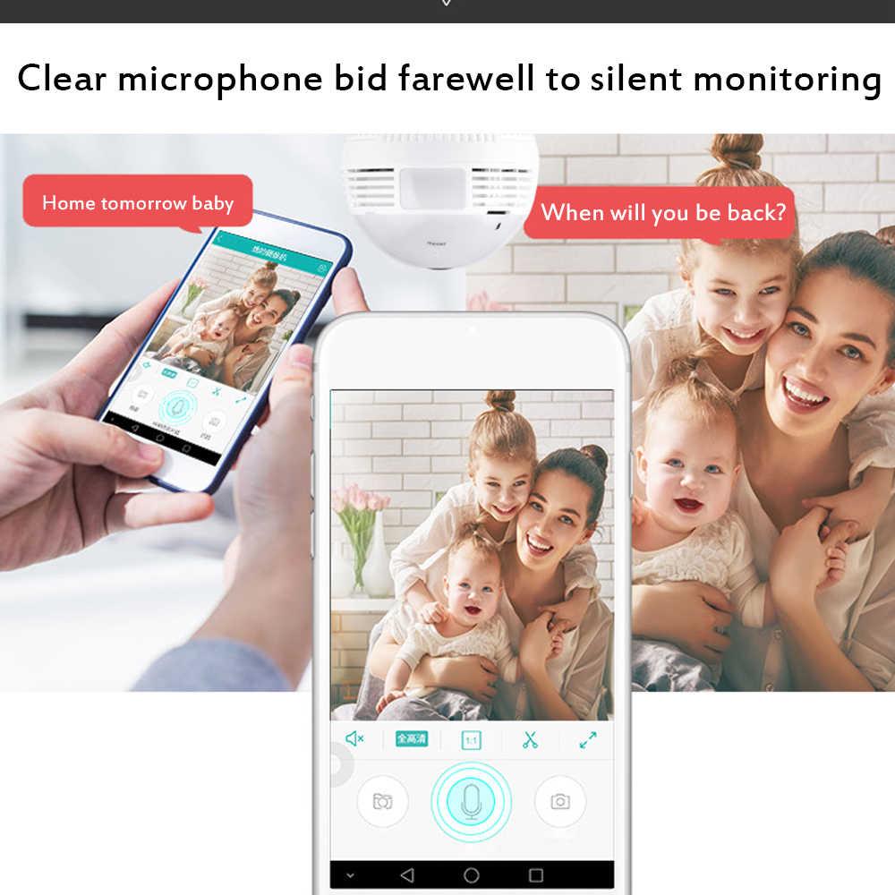 WiFi Mini Secret Camera Light Bulb 960P Night Vision 360 Degree HD Video Voice Recorder Remote Micro Cam Support Hidden TF Card