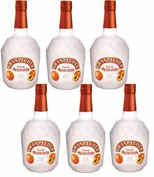 Granpecher - Licor de Melocotón - 6 botellas x 700 ml - Total: 4200 ml