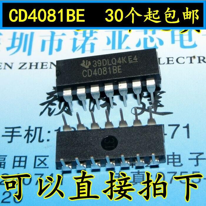 10pcs/lot New CD4081BE CD4081BD CD4081 DIP-14 New Four 2 Inputs And Doors