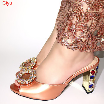 doershow guaranteed quality African fashion sandals for party,beautiful ladies shoes with rhinestones! HVZ1-7