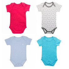 Clearance Sale New Born Baby Clothes 100% Cotton Kids Unisex Infant Baby Clothing summer Short Sleeve Girl Boy Bodysuits(China)
