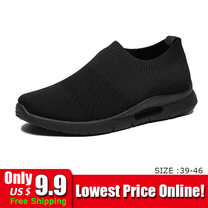 Men Light Running Shoes Jogging Shoes Breathable Man Sneakers Slip on Loafer Shoe Men s Casual