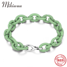 Top Quality Pale Green Bracelets Round Beads Charm Handmade accessories Hard Rubber X Bracelets for Women men Jewelry cheap MIKIWUU Chain Link Bracelets Silver 925 Sterling NONE Party TRENDY PX0285 Fine Boyfriend girlfriend family lover mother