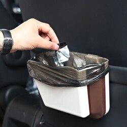 Składany samochodowy kosz na śmieci uniwersalny kosz na śmieci do samochodu worki na śmieci wnętrze samochodu kosz na śmieci odpady Organizer akcesoria
