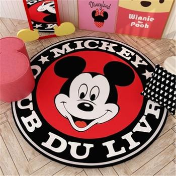 Round Mickey Kids Playmat Children Crawling Game Mat Bedroom Decor Round Rug Indoor Welcome Soft Door Mat 80/100/120/140cm