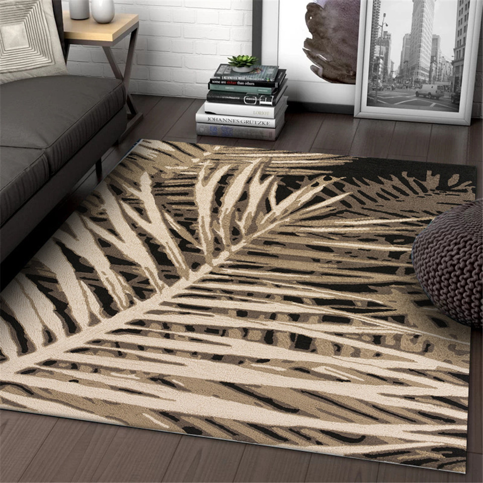 Wishstar Nordic Dry Leaves Abstract Large Rugs Bedroom Modern | Small Rugs For Stairs | Area Rug | Stair Tread | Wood | Stair Rods | Stair Case