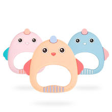 Food Grade Baby Rodents Silicone Teethers DIY Animal Koala Baby Ring Teether Infant Chew Charms Kids Teething Gift Toddler Toys