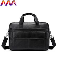MVA miękkie skórzane męskie teczki New Arrival torba męska na ramię kobiet teczki 100 prawdziwej skóry mężczyźni na co dzień torebka tanie tanio Skóra bydlęca cow leather briefcase Solidna torba Pojedyncze Unisex 9cminch zipper Wnętrze slot kieszeń Kieszeń na telefon komórkowy