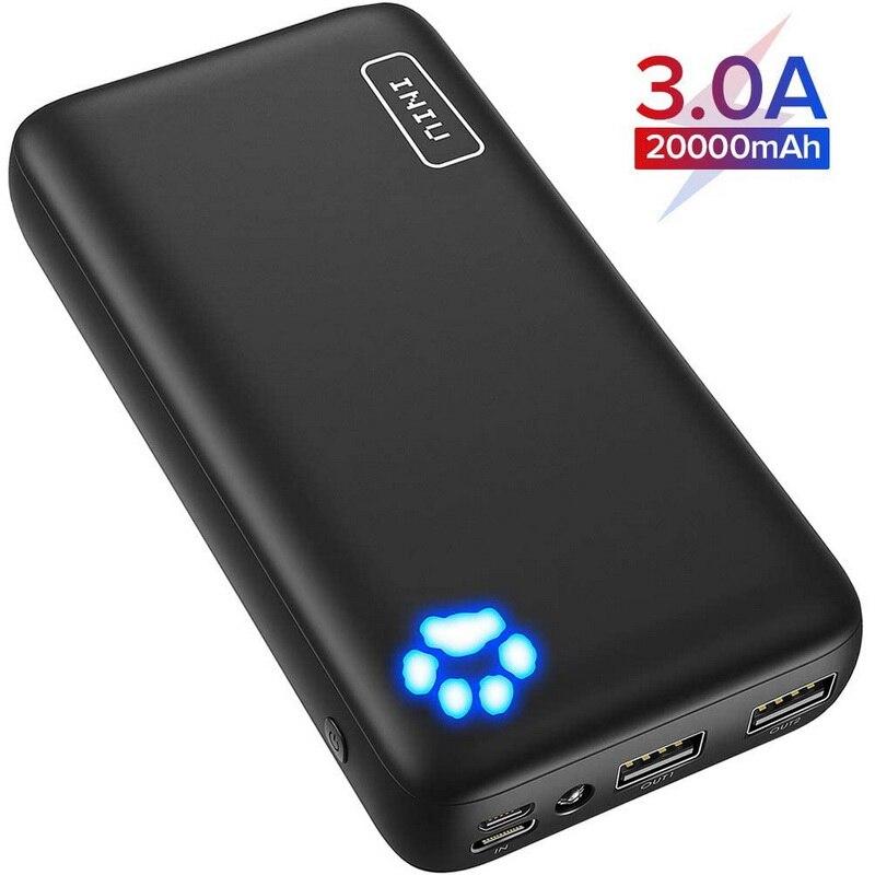 INIU 3A внешний аккумулятор 20000 мАч двойной USB порт портативное зарядное устройство Внешний аккумулятор Зарядка повербанк для iPhone Samsung|Внешние аккумуляторы|   | АлиЭкспресс
