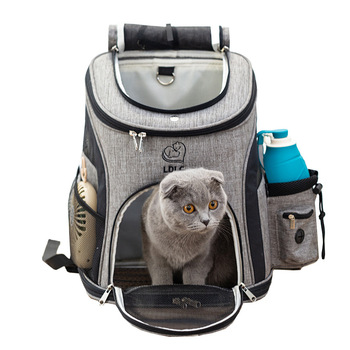 Outdoor Pet Dog Carrying Bag Pet Dog Mesh Breathable Front Bag Out Double Shoulder Portable Travel Backpack For Small Dog Cat