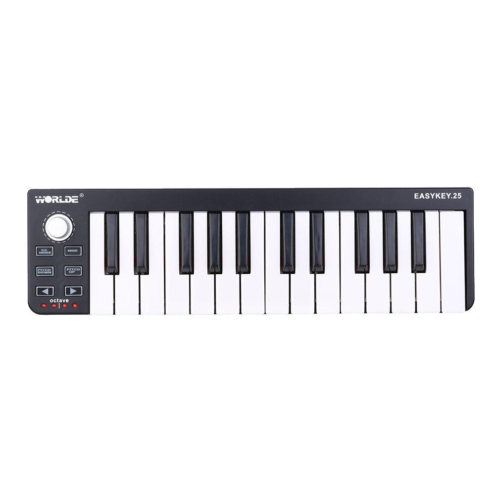 Professional Portable Keyboard Mini 25-Key USB MIDI Controller Easykey.25 Midi Keyboard