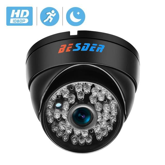 BESDER Wide Angle 2.8mm Vandal Proof 1080P IP Camera Dome Waterproof 48 PCS IR LED Indoor Outdoor Network IP Camera IR Cut ONVIF