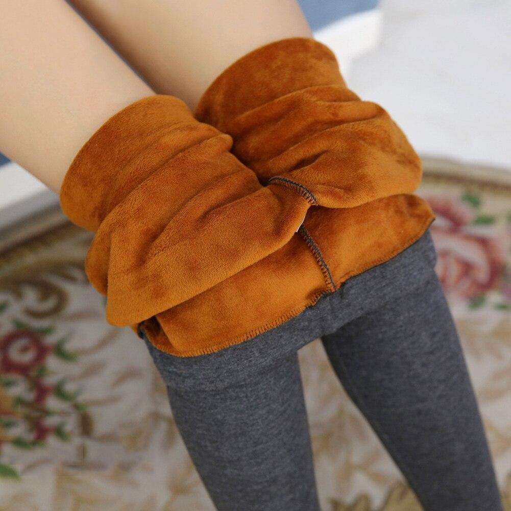 Winter Leggings Warm Pants Winter Skinny Thick Velvet Wool Fleece Girls Leggings Women Trousers Lambskin Cashmere Legging HX1118