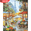 HUACAN Paint By Number Street Scenery Kits Drawing Canvas HandPainted DIY Pictures By Number Flower Home Decor Oil Painting