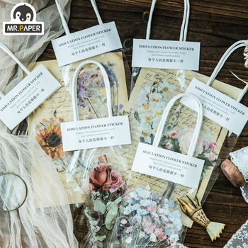 Mr.paper 10pcs Seven Garden House Floral Stickers Diary Planner Decorative Scrapbooking DIY Home Suitcase Children GIft - discount item  23% OFF Stationery Sticker