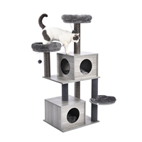 Domestic Delivery Cat Furniture Pet Cat Tree Tower Climbing Cat Apartment Game Habitat Cat Tower Condo Toy