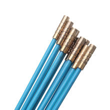 10 sztuk drut z włókna szklanego kabel elektryczny Push ściągacz Rodder taśma wędkarska zestaw 4mm 1 metr kabel z włókna szklanego-40