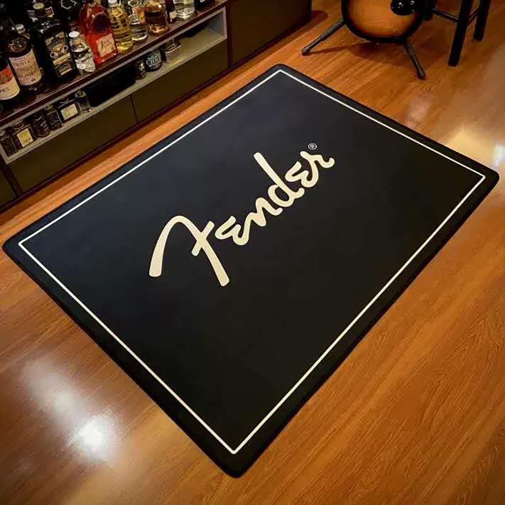 Fender Guitar Modern Printed Flannel Area Rug Printed Room Area Rug Floor Carpet For Living Room Bedroom Home Decorative