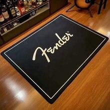 Fender-alfombra de franela con estampado moderno para sala de estar, alfombra de suelo para dormitorio, decoración del hogar