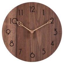 Большие деревянные настенные часы Ретро современные кухонные