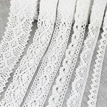 Filet en coton blanc brodé, 5 mètres par rouleau, garniture en tissu, bricolage, couture, ruban artisanal