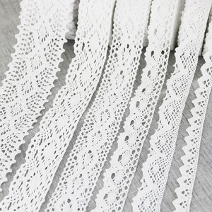 (5 meters/roll) White Cotton Embroidered Lace Net Fabric Trim DIY Sewing Handmade Craft Ribbon Materials