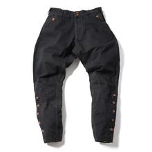 D'epoca Mid-Rise Pantaloni Nero