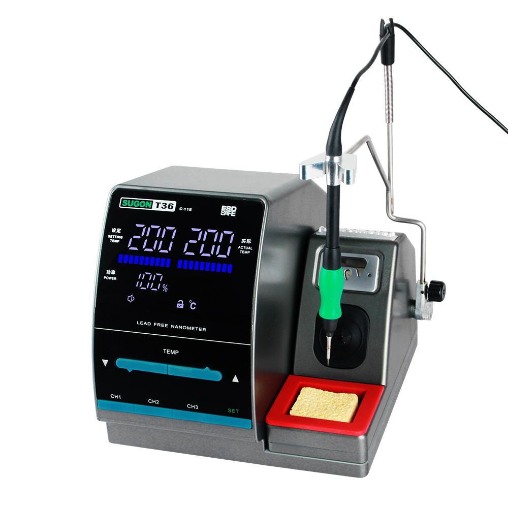 SUGON T36 Nano Soldering Station 1S Rapid Heating With JBC Soldering Tip For Integrated Circuit Component Welding Repair