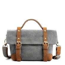 Маленькая холщовая женская сумка на плечо повседневный винтажный
