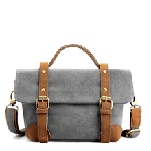 Small Shoulder Bag Canvas Women Casual Handbags Girls Crossbody Vintage Lady Tote Multi Pocket