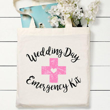 Wedding day Emergency Kit gift Bag Bridal Shower bachelorette hen Party bride to be Bridesmaid Team Bride tribe decoration favor(China)