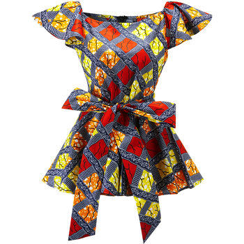 цена на African fashion clothes women top ankara print shirt one shoulder top african traditional clothing women high waist slim top