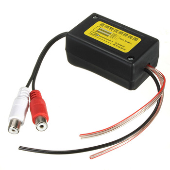 цена на New High to Low Level 2 Channel High-Quality Durable Black Car Speaker RCA Converter with  Ground Wire Suitable for Car