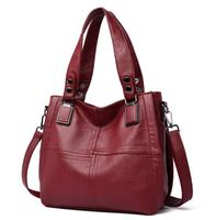 Hot 2020 Women's Handbags Tote Bags New Ladies Leather Casual Minimalist Stitching Bags