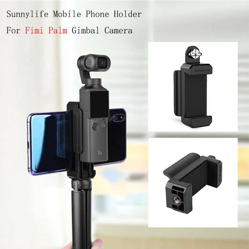 Mobile Phone Fixing Clamp 1/4'' Holder Mount Bracket For FIMI Palm Handheld Gimbal Smartphone Clip For Fimi Palm Accessories