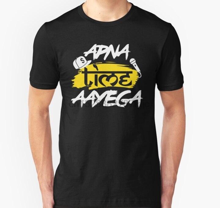 Apna Time Aayega Gully Boy Black T-Shirt S-6XL