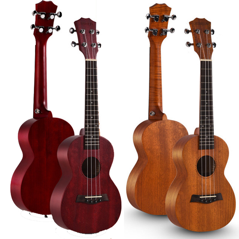 26 Inch 18 Fret Tenor Ukulele Acoustic Cutaway Guitar Mahogany Wood Ukelele Hawaii 4 String Guitarra Children\'S Beginner Toys