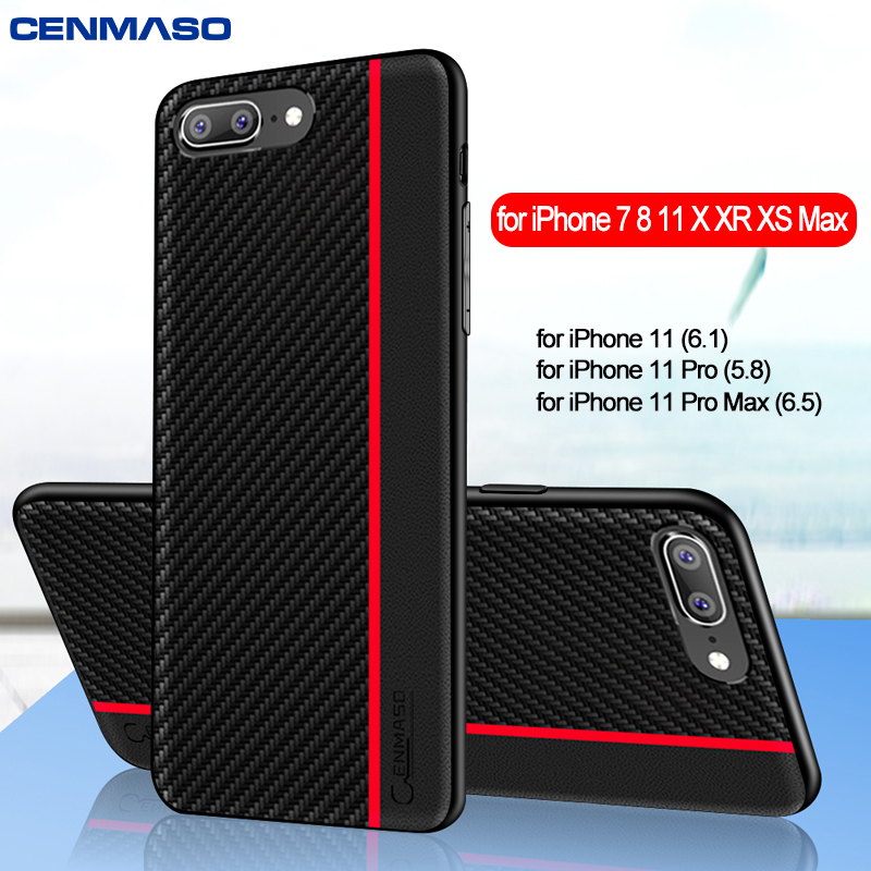 For IPhone 7 Case for IPhone X XR Xs Max Case Original Fiber Leather Soft Edge Protect Cover for IPhone 8 7 Plus 11 Pro Max Case