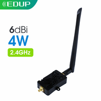 Edup 4W 4000M Wifi Router Versterker 2.4Ghz 802.11b/g/n Draadloze Signaal Extender Wifi Signaal Booster Wlan Zigbee Repeater adapter